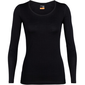 Icebreaker 200 Oasis Longsleeve Scoop Shirt Dames, black